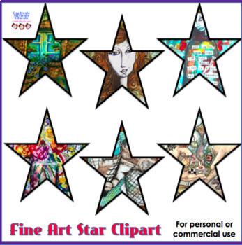 Fine Art Stars Clipart