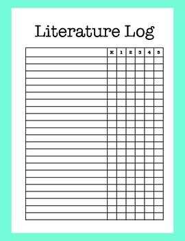 Fine Arts Children's Literature Log