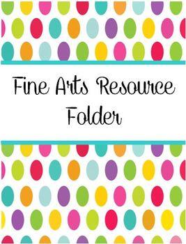 Fine Arts Resource Folder
