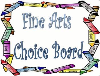 Fine Arts Tic Tac Toe/Choice Board