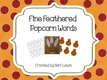 Fine Feathered Popcorn Words