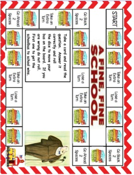 Fine Fine School comprehension board game
