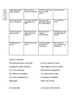 Blanc Unit 8 Fine Line Bingo game