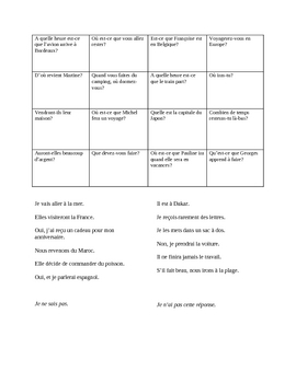 Blanc Unit 8 Partner Bingo