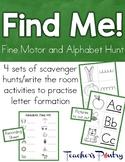 Fine Me! Fine motor alphabet scavenger hunt