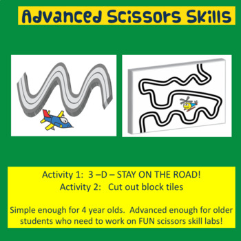 Fine Motor: 3-D Advanced Scissors Skills (Transportation Themed)