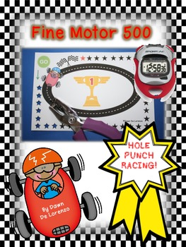 Fine Motor 500 {Hole Punch Racing!}