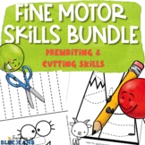 Fine Motor Activities Bundle | PreWriting Tracing Pages &