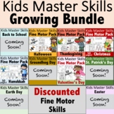 Fine Motor Activities Pack GROWING BUNDLE - (With Math and