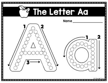 Fine Motor Activities: Q-Tip Letter Painting