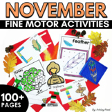 Fine Motor Activities for NOVEMBER and Thanksgiving