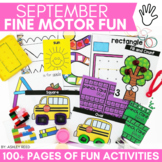 Fine Motor Activities for SEPTEMBER