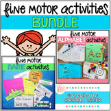 Fine Motor Alphabet Activities and Editable Name Activities
