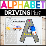 Fine Motor Alphabet Activity Mats: Drive & Write Transportation