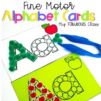 Fine Motor Alphabet Cards