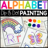 Fine Motor Alphabet: Dip & Dot Q-Tip Painting with Letter