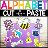 Fine Motor Alphabet Phonics: Cut & Paste Sorting Activity Collage