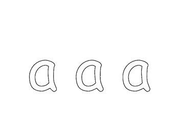 Fine Motor Alphabet Playdoh Mats Lowercase