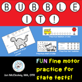 Fine Motor BUBBLE IT!  A fine and visual motor program for test sheet practice