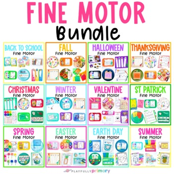 Fine Motor Activities | Monthly Theme Preschool Centers, Work Tubs, Worksheets