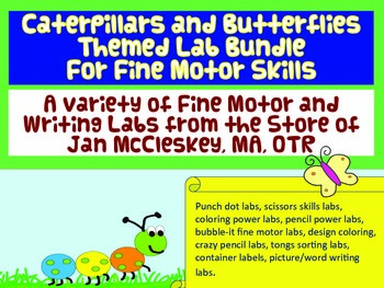 Fine Motor Bundle of Jan McCleskey's Activities: Caterpillars and Butterflies