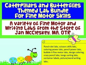 Fine Motor Bundle of Jan McCleskey's Activities: Caterpill