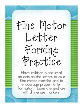 Fine Motor Capital Letters Forming Practice