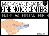 Fine Motor Centers: Find and Punch