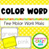 Fine Motor Color Word Mats