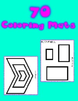Fine Motor Coloring Mat Printables -  70 pages of printable coloring mats
