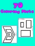 Fine Motor Coloring Mat Printables -  70 pages of printabl
