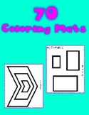 Fine Motor Coloring Mat Printables -  70 pages of printabl