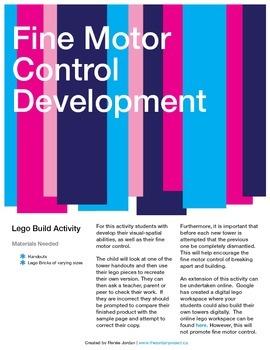 Fine Motor Control: Lego Build Activty