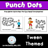 Fine Motor Crazy Punch Dots! Tween Themed