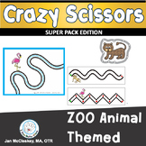 Fine Motor Crazy Scissors!  ZOO Animal Themed Activities for Centers or Therapy