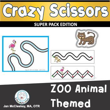 Fine Motor Crazy Scissors!  ZOO Animal Themed Activities f