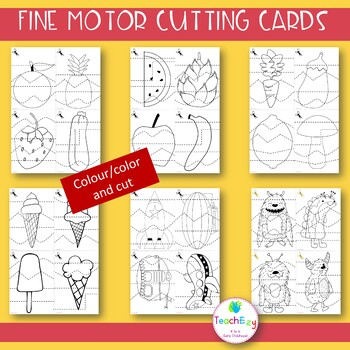 Fine Motor Cutting Cards