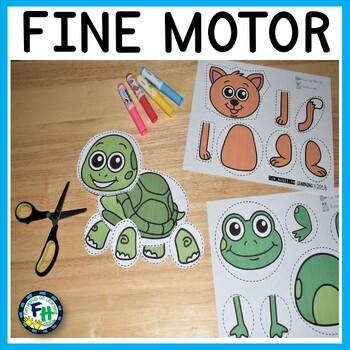 Fine Motor Cutting Practice Activities