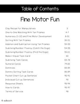 Fine Motor Fun Packet