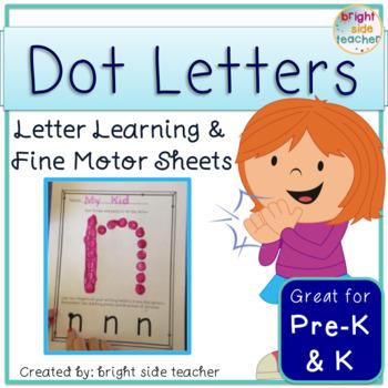 Fine Motor Dot Letters