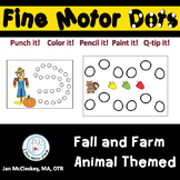 Fall and Farm Themed Special Education Fine Motor Dots for Centers or Therapy