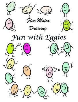 Fine Motor Drawing –Fun with Eggies