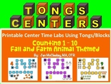 Fine Motor Fall and Farm Themed COUNTING TONGS Labs for Centers