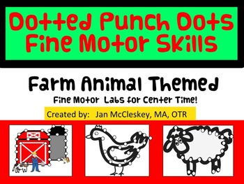 Fine Motor Farm Animal Themed Crazy Punch Dots Labs