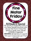 Fine Motor Friday Valentine's Day Edition