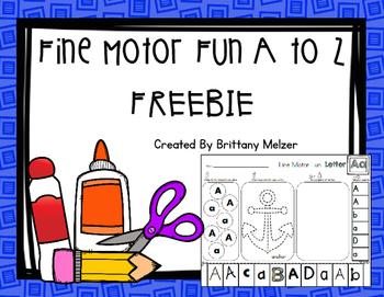Fine Motor Fun A to Z Freebie