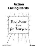 Fine Motor Fun Action Lacing Cards