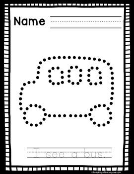 Fine Motor Activities Back to School (Pokey Pin Activities)