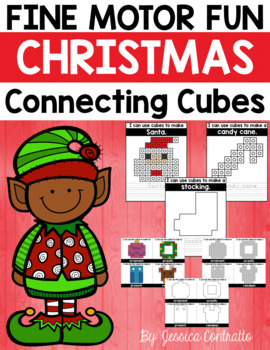 Fine Motor Fun: Christmas Connecting Cubes