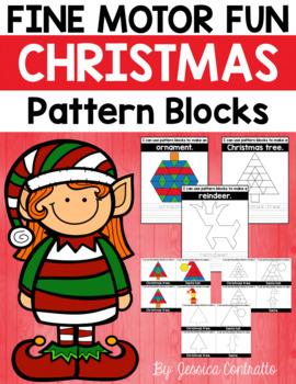 Fine Motor Fun: Christmas Pattern Blocks